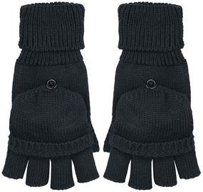 Beechfield - Fliptop Gloves - Kynsikkäät - Unisex - Musta