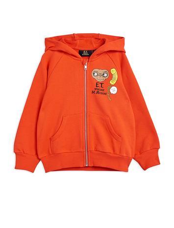 Mini Rodini E.T. Sp Zip Hoodie Huppari Oranssi Mini Rodini RED