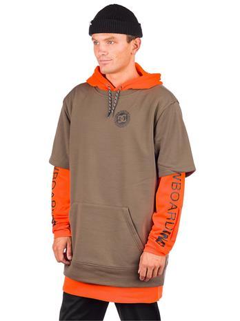 DC Dryden Shred Hoodie shocking orange Miehet