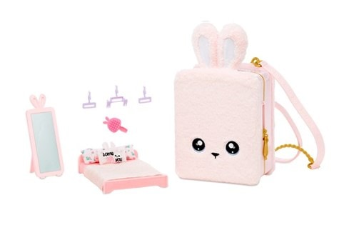 Na! Na! Na! Surprise 3-in-1 Backpack Bedroom -reppu, leikkisetti, pinkki