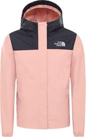 The North Face Resolve Reflective Takki Tytöt, pink clay/TNF black