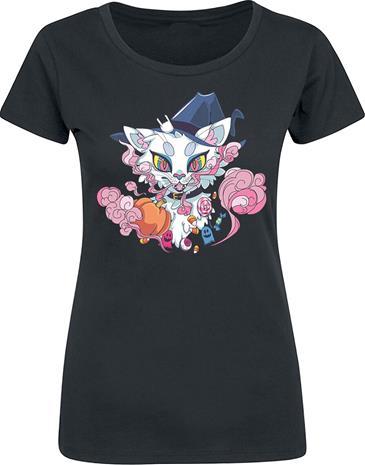 Halloween Cat - - T-paita - Naiset - Musta