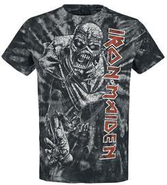 Iron Maiden - Piece Of Mind Spiral - T-paita - Miehet - Musta valkoinen