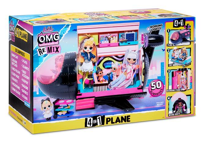 L.O.L. Surprise Remix -lentokone, leikkisetti