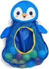 Fippla Kylpylelujen Säilytyspussi ja Lelut Pingviini