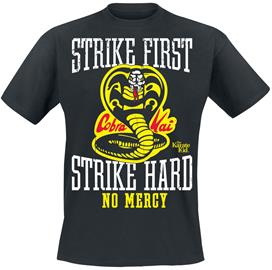 Karate Kid - Strike First, Strike Hard, No Mercy - T-paita - Miehet - Musta