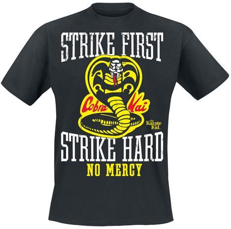 Karate Kid - Strike First, Strike Hard, No Mercy - T-paita - Miehet - Musta