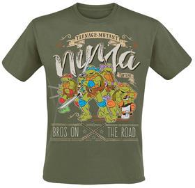 Teenage Mutant Ninja Turtles - Bros On The Road - T-paita - Miehet - Oliivi
