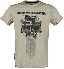 Rammstein - Broken Logo - T-paita - Miehet - Khaki