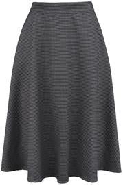 Banned Retro - Cute Check Mate Skirt - Keskipitkä hame - Naiset - Harmaa valkoinen
