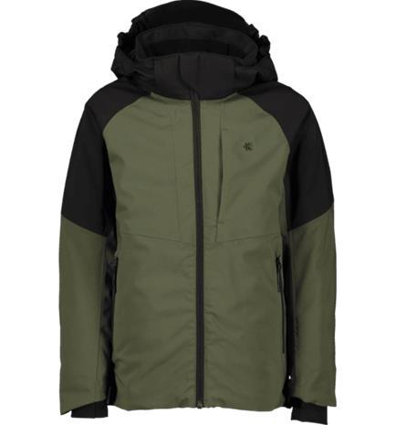 Everest J DEX SOFTSHEL JKT BLACK/KHAKI GREEN