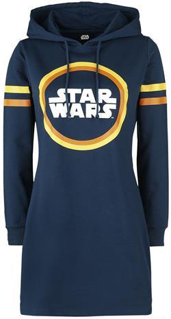 Star Wars - Retro Logo - Keskipitkä mekko - Naiset - Sininen