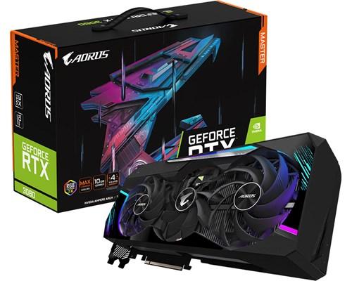 Gigabyte GeForce RTX 3080 AORUS Master 10 GB, PCI-E, näytönohjain