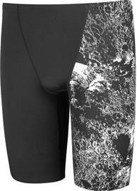 speedo Allover V-Cut Jammer Men, crater black/white