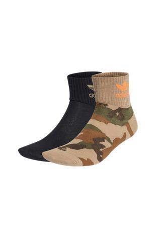 adidas Originals Nilkkasukat Camo Mid-ankle Socks, 2 paria