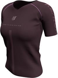 Compressport Training SS Tshirt Born To SwimBikeRun 2020 Women, burgundy