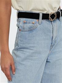 Pieces Pcnaya Suede Jeans Belt Musta