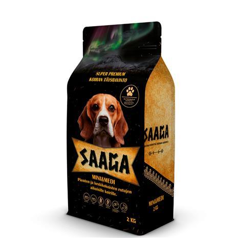 Saaga Mini & Medi 2 kg koiran täysravinto
