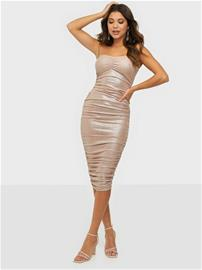NLY One Shimmer Ruched Dress