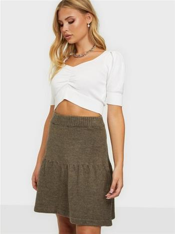 Pieces Pcrea Hw Knit Skirt Falcon