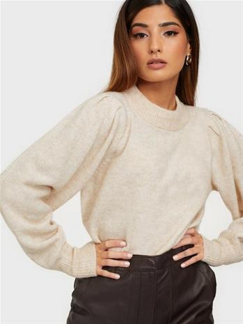Selected Femme Slfstar Ls Block Knit X-Mas O-Neck