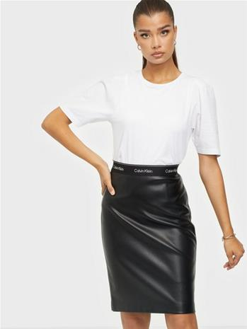 Calvin Klein Mixed Media Pencil Skirt