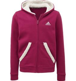 Adidas G MUST HAVE WINTER FZ HOODIE POWER BERRY