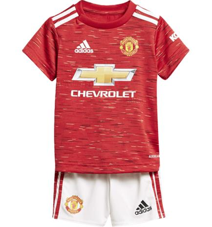 Adidas MANCHESTER UNITED 20/21 HOME BABY KIT REAL RED