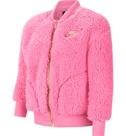 Nike G NSW SHERPA SHINE FZ BOMR PR JKT PINKSICLE/CLUB GOL