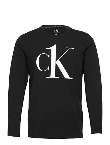 Calvin Klein L/S Crew Neck Olovaatteet Musta Calvin Klein BLACK