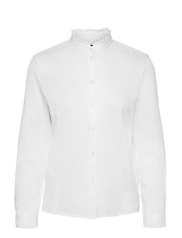 Marc O'Polo Shirts/Blouses Long Sleeve Pitkähihainen Pusero Paita Valkoinen Marc O'Polo WHITE