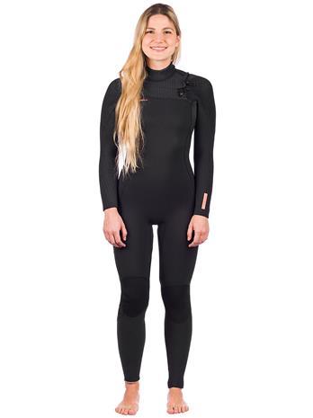O'Neill Hyperfreak 5/4+ Chest Zip Wetsuit black / black Naiset