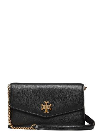 Tory Burch Kira Pebbled Chain Wallet Bags Small Shoulder Bags - Crossbody Bags Musta Tory Burch BLACK