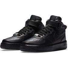 Nike Air Force 1 Mid - Musta/Musta Lapset