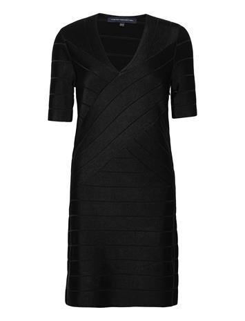French Connection Zasha Spotlight V Nk Bdy Dress Polvipituinen Mekko Musta French Connection BLACK