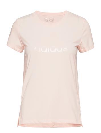 adidas Performance Glam On Bos Tee T-shirts & Tops Short-sleeved Vaaleanpunainen Adidas Performance PNKTIN