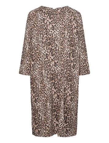 Betty Barclay Dress Short 3/4 Sleeve Lyhyt Mekko Ruskea Betty Barclay CAMEL/GREY
