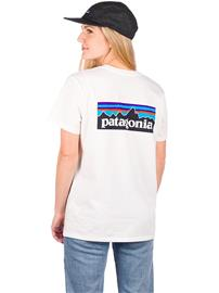 Patagonia P-6 Logo Organic Crew T-Shirt white Naiset