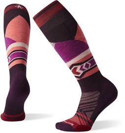 Smartwool PhD Ski Light Elite Pattern Socks Women, bordeaux