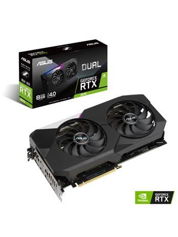 ASUS GeForce RTX 3070 Dual 8 GB, PCI-E, näytönohjain