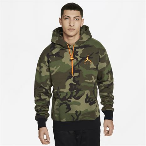 Jordan M J JUMPMAN AIR CAMO FLEECE PO MEDIUM OLIVE/TOTAL