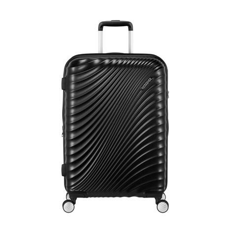 American Tourister Jetglam Spinner -matkalaukku, keskikoko, musta