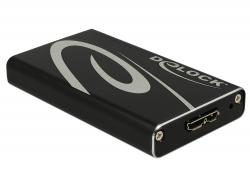 DeLock (mSATA, USB 3.0) 42569, ulkoinen SSD-kiintolevykotelo