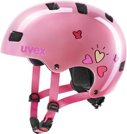 UVEX Kid 3 Kypärä Lapset, pink heart