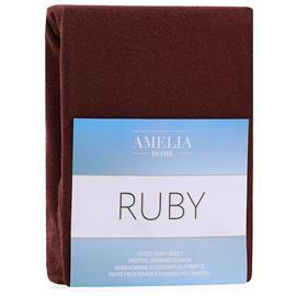 AmeliaHome Ruby -muotoonommeltu lakana, ruskea, 180-200 x 200 + 30 cm