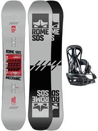 Rome Mechanic 157W + United L 2021 Snowboard Set uni Miehet