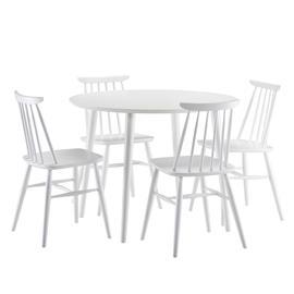 Aino Pöytä halk. 100cm + 4 tuolia