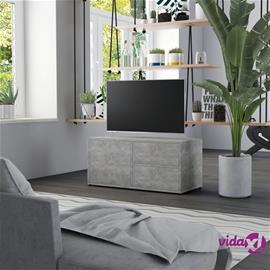vidaXL TV-taso betoninharmaa 80x34x36 cm lastulevy
