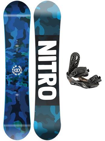 Nitro Ripper 137 + Charger 2021 Snowboard Set uni