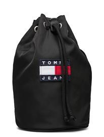 Tommy Hilfiger Tjw Heritage Sling Bag Bags Bucket Bag Musta Tommy Hilfiger BLACK